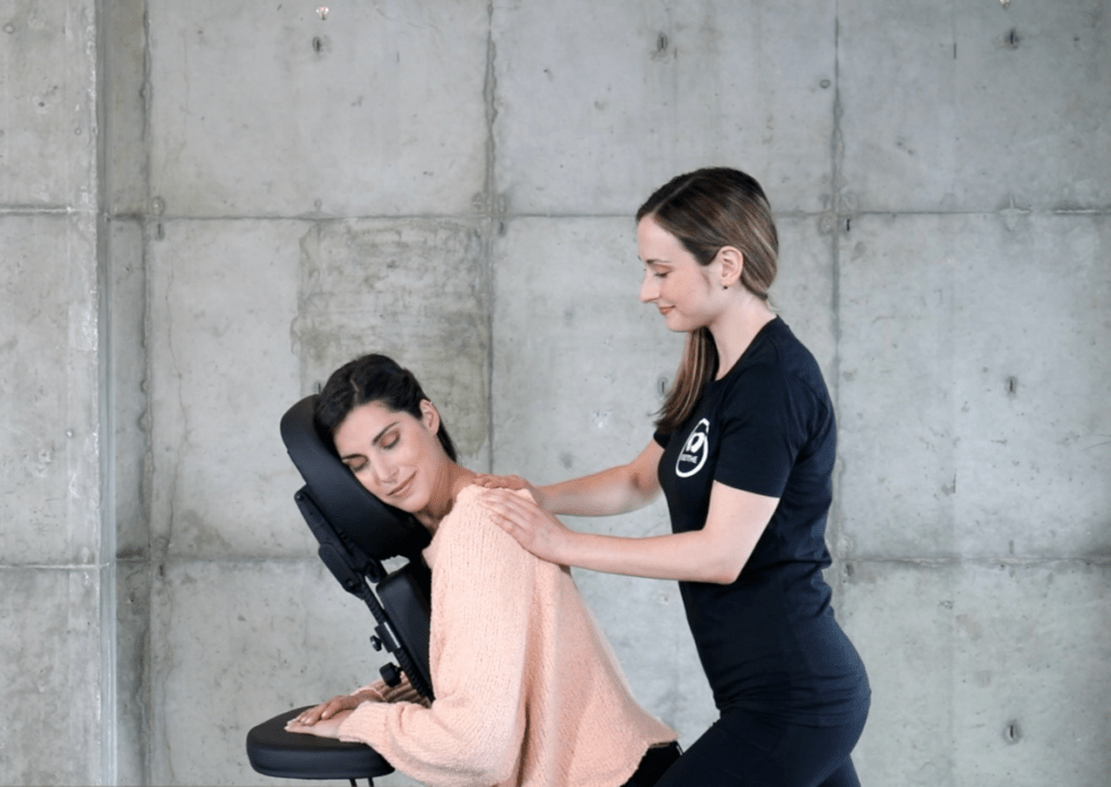 Office chair massages for workplace wellness